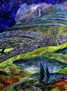 Night Cypress by Valerie Allen  valerieallen.artroof.com