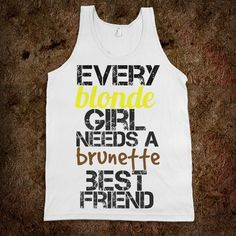 Best Friends Blonde Brunette - Protego - Skreened T-shirts, Organic Shirts, Hoodies, Kids Tees, Baby One-Pieces and Tote Bags Custom T-Shirts, Organic Shirts, Hoodies, Novelty Gifts, Kids Apparel, Baby One-Pieces   Skreened - Ethical Custom Apparel