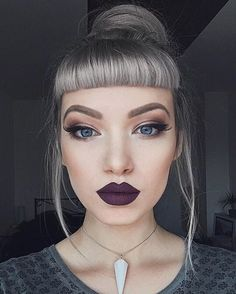 Trending Purple Lipstick Shades for 2019 ★ Makeup Goals, Makeup Inspo, Makeup Inspiration, Makeup Tips, Beauty Makeup, Eye Makeup, Hair Makeup, Hair Beauty, Purple Lipstick Makeup