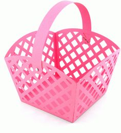 I think I'm in love with this Lattice Easter Basket shape from the Silhouette Online Store! 3d Paper Crafts, Craft Stick Crafts, Silhouette Cameo Projects, Silhouette Design, Silhouette Online Store, Lattice Design, Paper Basket, Kids Church, Easter Crafts For Kids