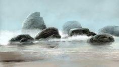 Rocks - Digital painting