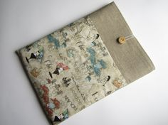 Chic linen MacBook sleeve 13 with pockets MacBook by LinenSleeve, $25.00