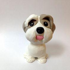Shih Tzu Cake Topper Figurine  Bichon Shih Tzu by DogCakeTopper