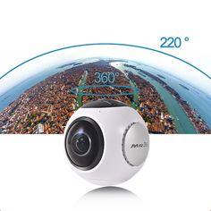 Sale 16% (94.99$) - Kaimorui MR360 360*220 Wide Angle Screen Panoramic VR Camera 1080p Multiple 3D Preview Modes 8G Fisheye Lens Ultra HD WiFi Mini Sports Camera