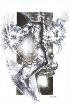 Silver Surfer by Stephen Jorge Segovia Deviant (Marvel) Comic Book Characters, Comic Book Heroes, Marvel Characters, Comic Books Art, Book Art, Marvel Comics, Marvel Art, Marvel Heroes, Silver Surfer Comic