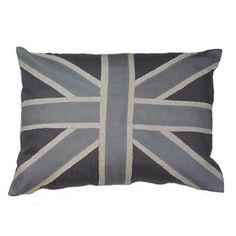 Grey Linen Union Jack Pillow...can't wait for our trip to London!