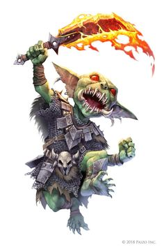 Pathfinder: Chief Cheektooth by WillOBrien on DeviantArt Pathfinder Character, Pathfinder Rpg, Goblin Art, Goblin King, Dnd Characters, Fantasy Characters, Character Concept, Character Art, Dnd Monsters