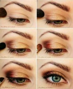 Natural eye look. Love the little pink bit, it gives the look a little life