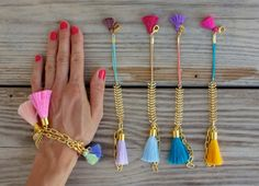 ▲100% unique fishbone bracelet handmade in Ibiza  ▲bracelet in beautiful colors, 24 k gold plated fishbone chain and two tassels  ▲lobster clasps
