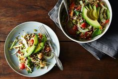French Lentil, Kamut, and Avocado Salad with Basil Dressing  recipe on Food52