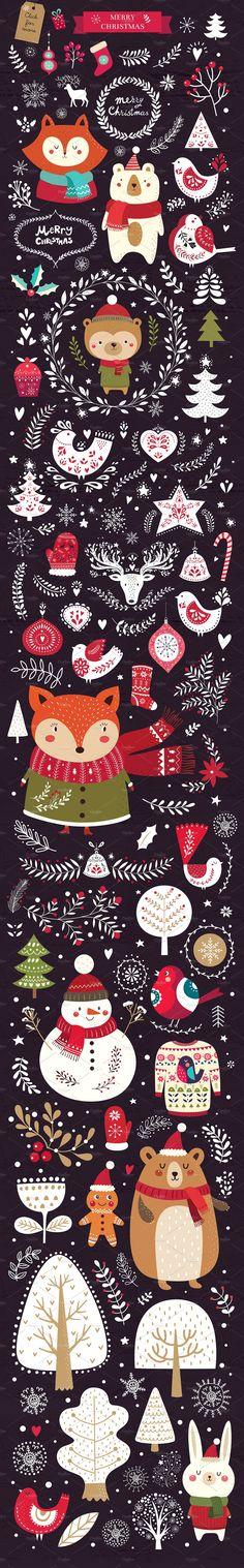 Big Christmas Bundle by MoleskoStudio on @creativemarket