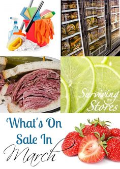 Find out which items are on sale in March!! There will be lots of great price cuts at your local grocery stores!