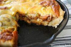 Deep-Dish Skillet Pizza   Homemade Pizza Recipes slideshow from Gooseberry Patch
