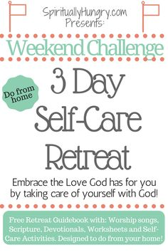 Retreats Spiritual SelfCare Resources Retreats for Women Parents Retreats Health Retreats Spiritual Health, Spiritual Growth, Christian Retreat, Christian Living, Self Care Activities, Youth Activities, Thing 1, Rest And Relaxation, Worship Songs