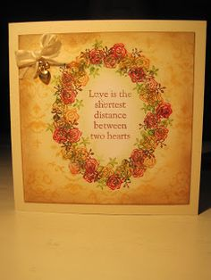 The Shortest Distance, handstamped card with stamps from Rubber Stamp Tapestry, made by Dianne ten Hove