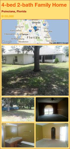4-bed 2-bath Family Home in Poinciana, Florida ►$135,000 #PropertyForSale #RealEstate #Florida http://florida-magic.com/properties/15904-family-home-for-sale-in-poinciana-florida-with-4-bedroom-2-bathroom