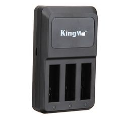 Kingma Triple 3 Channel Charger Three Port Home Charger For Gopro Hero 4 HD Camera