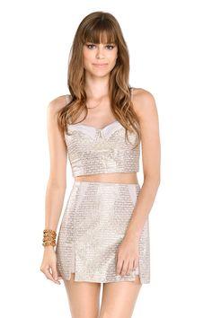 saia fenda barra com foil - Saias | Dress to