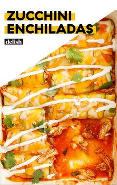 Could You Eat Pizza With Sort Two Diabetic Issues? Zucchini Enchiladas Are The Healthy, Low-Carb Version Of Your Favorite Tex Mex Dish. Mexican Food Recipes, Low Carb Recipes, Vegetarian Recipes, Cooking Recipes, Healthy Recipes, Healthy Foods, Mexican Desserts, Freezer Recipes, Freezer Cooking