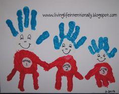 Thing 1, 2, 3 Handprint Art to celebrate Dr. Suess Birthday!!!