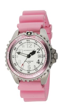 M1 Twist - SS, White Dial, Pink Bezel, Pink 'Twist' Rubber - our new oversized ladies dive watch that is both fashionable and functional. With a variety of fun colours, it's a watch you can wear in and out of the water. Specs include: •V-series movement with extended battery life •20ATM depth rating •Luminous, legible face for underwater and dim light conditions •316L Stainless Steel Case •Natural Italian, vanilla scented rubber band •Sapphire Crystal Upgrade Available