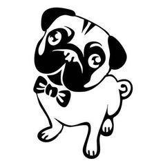 Pug Decal Sticker