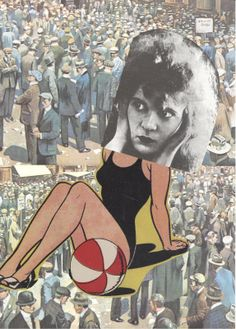 Hannah Höch anti war artist, early C. Dada Collage, Collage Artists, Mixed Media Collage, Marcel Duchamp, Photomontage, Hannah Hock, Hannah Hoch Collage, Collages, Dada Artists