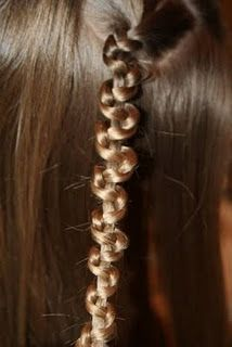 snake braid- super easy! just braid normally until about four inches from the ends, then hold the middle section while sliding the other two up the braid. Adjust and secure!