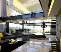 Contemporary Glass House / House Ber by Nico Van Der Meulen Architects Interior Staircase, Interior Architecture, Interior Design, South African Homes, Modern Buildings, Glass House, Beautiful Homes, House Design, Wall Design