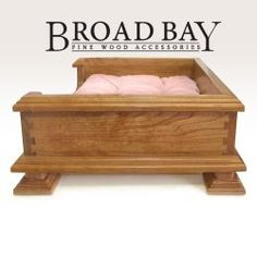 Cherry Dog Bed Pet Bed Crafted from Solid Cherry Wood - Dog Bed for Small Dogs - Top Rated - Best Quality Available - For Dog or cats!