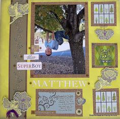 Chattering Robins: How to Make An Active Boy's Scrapbook Layout
