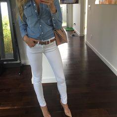 #OOTD shirt: @gap jeans: @rag_bone purse: @maisonvalentino shoes: @christianlouboutin belt: Hermes