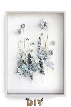 Inspired – Anne Ten Donkelaar Inspiring! I love Flowers Constructions series by the Dutch artist Anne Ten Donkelaar. These amazing works are realised both with real pressed flowers and paper cut pictures of flowers. The result … 3d Collage, Flower Collage, Flower Frame, Collages, Dried And Pressed Flowers, Pressed Flower Art, Art Floral, Love Flowers, Diy Flowers