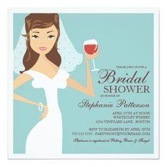 Winery Wedding Invitations Modern Bride Wine Theme Bridal Shower Invitation