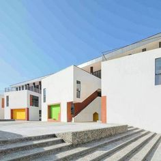 Image 1 of 20 from gallery of Jixian Kindergarten / Atelier Y. Photograph by SouthArch. Exterior House Colors, Exterior Design, Amazing Architecture, Architecture Design, Hidden House, China Image, Education Architecture, School Architecture, Learning Spaces