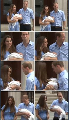 """He's got more than me, thank God!"" Prince William ; talking about his son's hair. #katemiddleton #princewilliam #royalbaby"