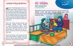 Kisah Asmaul Husna Al-'Aliim Kids Story Books, Stories For Kids, Asma Allah, Allah Names, Just Pray, Learn Islam, Islamic Messages, Islam Quran, Doa