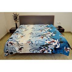 Valtellina Amaryllis Flower Design Double Bed Blankethttp://goo.gl/EUhmMH