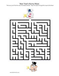 New Years Bunny Maze
