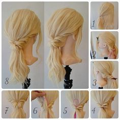 いいね!134件、コメント1件 ― 黒石 純さん(@dangomusi_kuro_jun)のInstagramアカウント: 「くるりんぱスティックを使ってヘアアレンジ  途中からの動画あり。  1.  トップのこれくらいを結ぶ。  2.  残した髪をロープ編み。  3.  真ん中で留めておいて、  4.…」