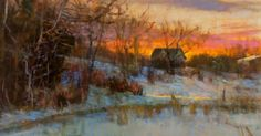 Winter Rest, oil/linen, 18x24                                       Starting today, I will be posting one painting a day, from my upcomi...