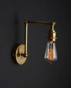 Brass Wall Light Fender - Available in Polished Brass or Antique Black Gold Wall Lights, Gold Ceiling Light, Gold Light, Ceiling Lights, Industrial Wall Lights, Black Ceiling, Light Blue, Light Fittings, Light Fixtures