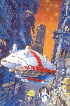 Asimov Foundation Sci Fi Promo Postcard by French Sci-Fi Artist Manchu