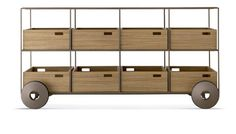 TECA - Commercial kitchen service trolley / home / solid wood by SOLLOS