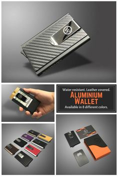 Water resistant, leather covered trendy and fashionable Aluminium Wallet. It is available in 8 different colors. Both women and men can use it and it's just 25.49$ and you also get a free bottle opener#aluminiumwallet#wallet#giftideas#waterresistant#commissionlink