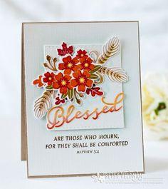 Papertrey Ink - Inspired: Blessed Die: Papertrey Ink Clear Stamps Dies Paper Ink Kits Ribbon