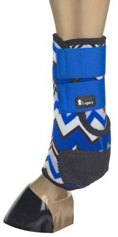 Classic Legacy System Support Boots-Hind - Chevron Royal by Equibrand. $70.95. An ultra lightweight, close profile, support boot that is ideal for training and competition. The shock absorbing Splint Pad gives maximum protection to the splint bone, tendons, and other soft tissues. Guards against crossfire and other scalping injuries. A suspensory rib is positioned between the tendon and the canon bone to ensure proper boot alignment. 100% virgin perforated neoprene. A fitted Kevl...