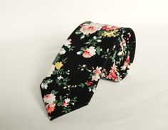 Navy Blue Pink Yellow Floral Tie. Mens Floral by TheStyleHubTrends