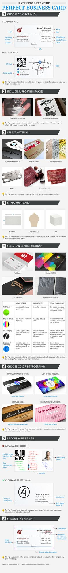 8 steps to design the perfect business card by Company Folders