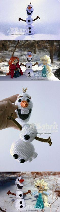 Funny Snowman Pattern by Sahrit :)